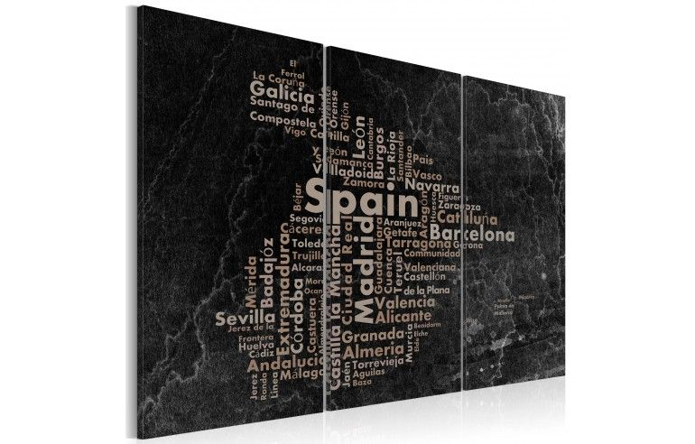 Obraz - Text map of Spain on the...