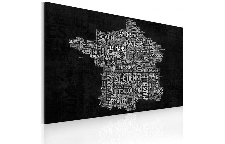 Obraz - Text map of France on the...