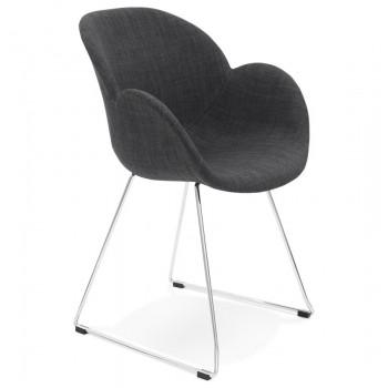 Krzesło TEXINA - Ciemno-szare