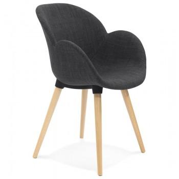 Krzesło tapicerowane SAGU - Ciemno-szare