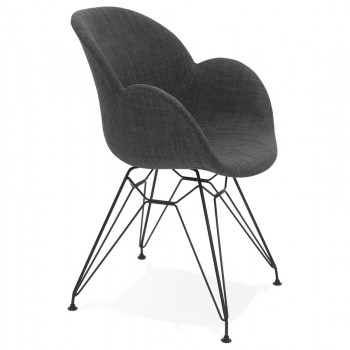 Krzesło tapicerowane EQUIUM - Ciemno-szare