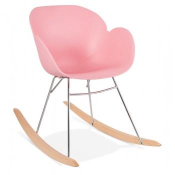 Krzesło bujane KNEBEL - Różowe