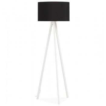 Lampa podłogowa TRIVET - Czarno-biała