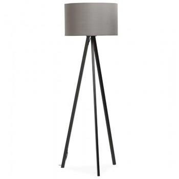 Lampa podłogowa TRIVET - Czarno-szara