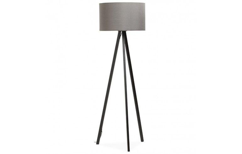 Kokoon Design - Lampa podłogowa TRIVET - Czarno-szara