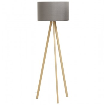 Kokoon Design - Lampa podłogowa TRIVET - Szara-naturalna