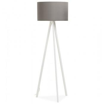 Lampa podłogowa TRIVET - Szaro-biała