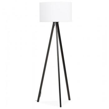 Lampa podłogowa TRIVET - Biało-czarna