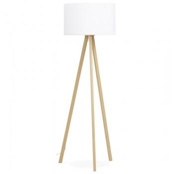 Lampa podłogowa TRIVET - Biała-naturalna