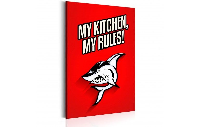 Obraz - My kitchen, my rules!
