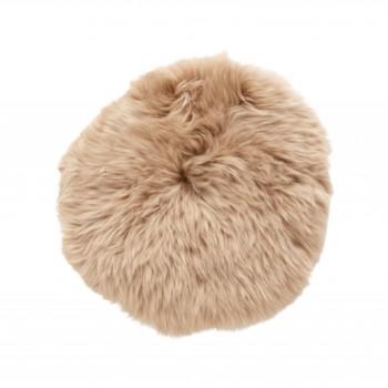Poduszka na siedzisko, krótkowłosa, jasnobrązowa Hübsch
