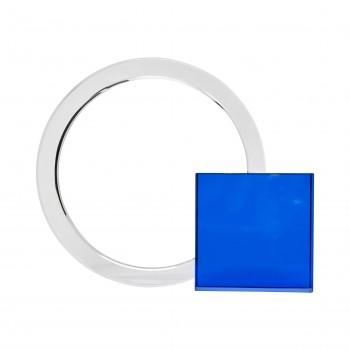 Bookend, szkło, niebieski / przezroczysty Hübsch