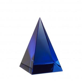Przycisk do papieru, szkło, niebieski Hübsch