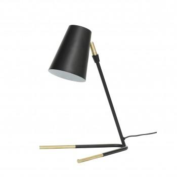 Lampa stołowa, metal, czarny / mosiądz Hübsch