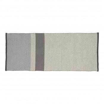 Dywan tkany, bawełniany, niebieski / szary / biały Hübsch