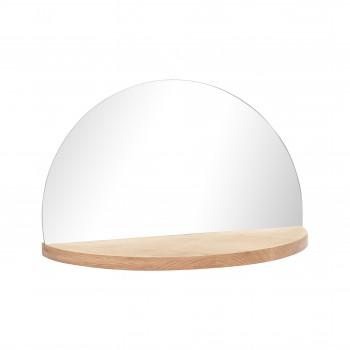 Półka z lustrem, okrągła, kolor naturalny Hübsch