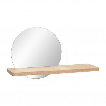 Półka z lustrem, kolor naturalny Hübsch
