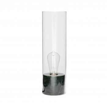 Lampa stołowa, marmur / szkło, zielona Hübsch