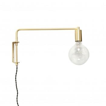Kinkiet z żarówką, LED, złoty Hübsch