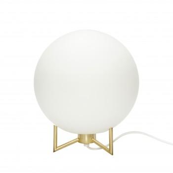 Lampa stołowa, metal / szkło, biały / mosiądz Hübsch