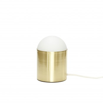 Lampa stołowa, szkło / mosiądz Hübsch
