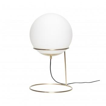 Lampa podłogowa, mosiądz / biały, metal / szkło Hübsch