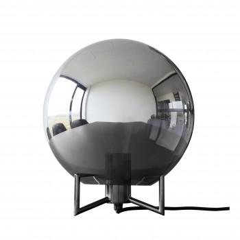 Lampa stołowa, metal / szkło, przydymiona / szara Hübsch