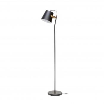 Lampa podłogowa, metal, blak / mosiądz Hübsch