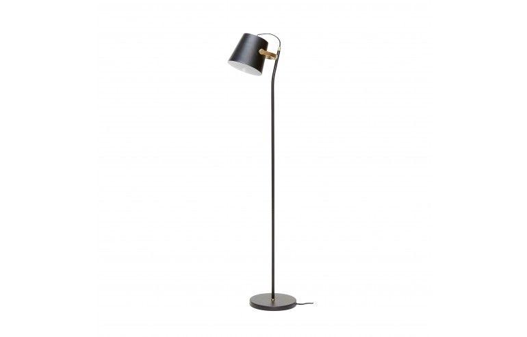 Lampa podłogowa, metal, blak /...