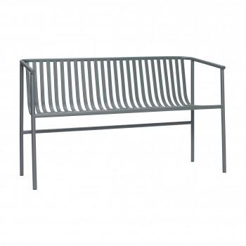 Ławka ogrodowa, metal, szara Hübsch