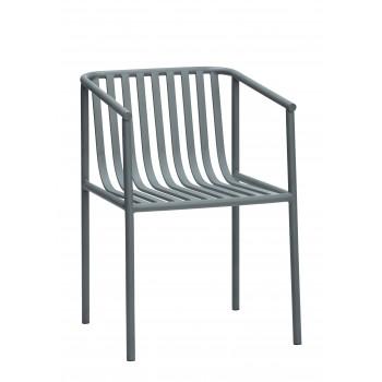 Krzesło metalowe, szare Hübsch