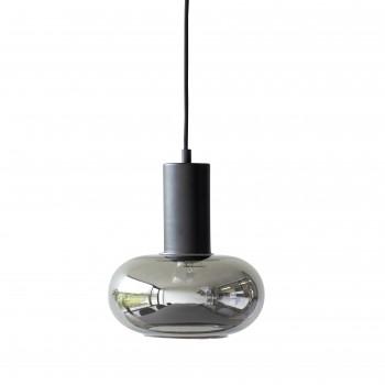 Lampa wisząca, szklana, czarna Hübsch