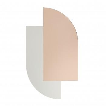 Lustro ścienne, szkło, różowe Hübsch