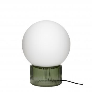 Lampa stołowa, szklana, mleczna / zielona Hübsch