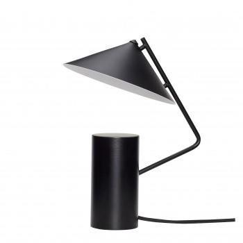 Lampa stołowa, metalowa, industrialna, czarna Hübsch
