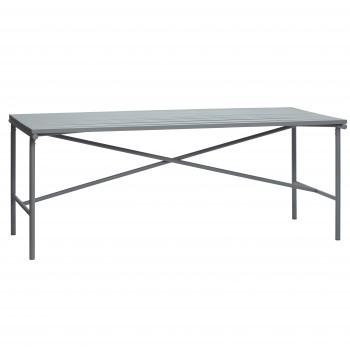 Stół metalowy, szary Hübsch