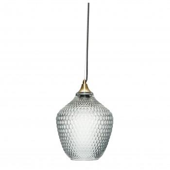 Lampa, mosiądz / szkło, niebieski Hübsch