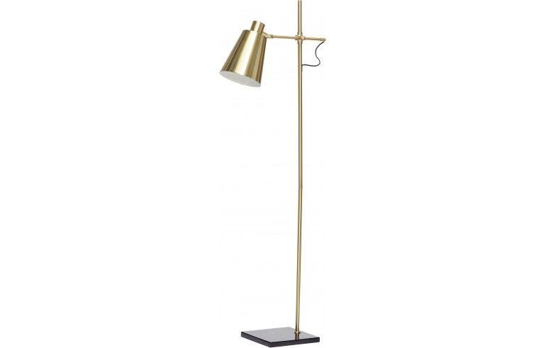 Lampa podłogowa, mosiądz / czarny Hübsch