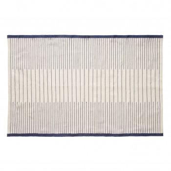 Dywan tkany, niebiesko-biały Hübsch