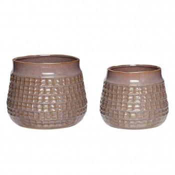 Doniczka, ceramika, fioletowy, s / 2 Hübsch
