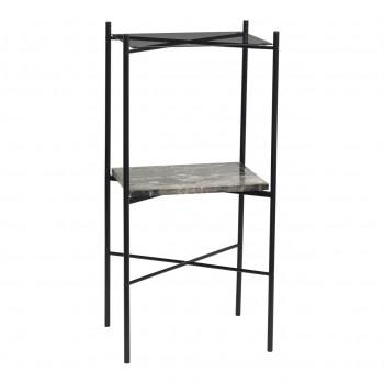 Stół, metal / marmur / szkło, czarny Hübsch