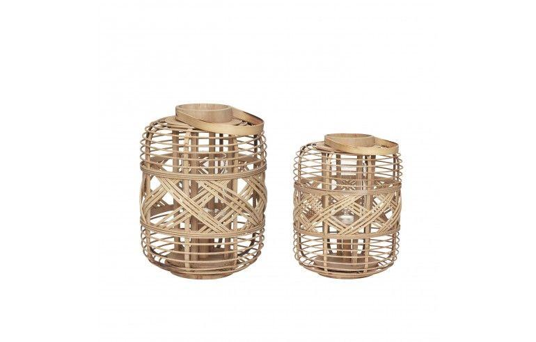 Lampion bambusowy naturalny s / 2 Hübsch