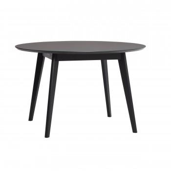 Stół do jadalni, okrągły, dąb / nano laminat, czarny Hübsch