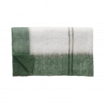 Pled, akryl, zielono-biały Hübsch