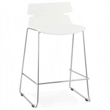 Krzeso barowe,hoker RENY - Biały
