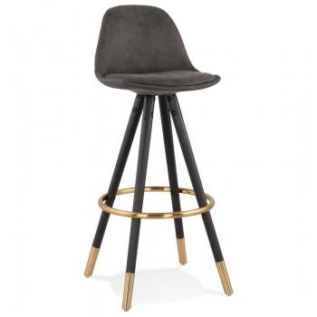 Krzeso barowe,hoker BRUCE - Ciemno-szary