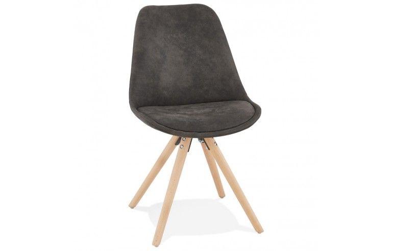 Kokoon Design - Krzesło designerskie CHARLIE - Ciemno Szary