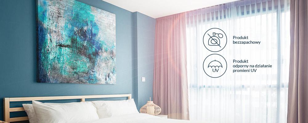 Obraz nad łóżkiem w sypialni