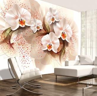 Fototapeta w kwiaty 3d w salonie