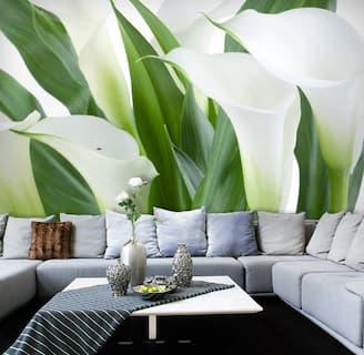 Fototapeta w kwiaty w salonie